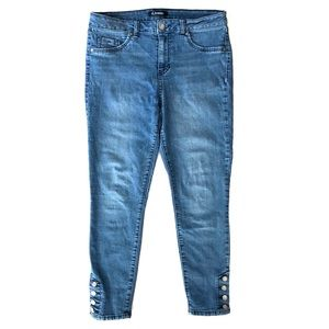 d. jeans Skinny High Rise Ankle Buttons Jeans